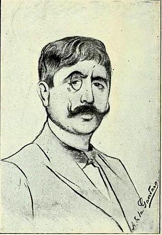 Jean Moréas - Jean Moréas, portrait by Antonio de La Gandara.