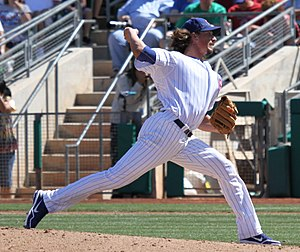 Jeff Samardzija - Samardzija pitching for the Chicago Cubs in 2012 spring training