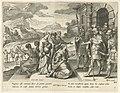 Jefta geeft zijn dochter toestemming om de bergen in te gaan Geschiedenis van Jefta (serietitel), RP-P-OB-73.927.jpg