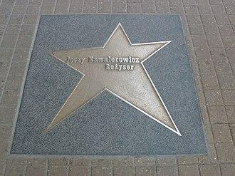 Jerzy Kawalerowicz - Kawalerowicz's star on the Łódź Walk of Fame