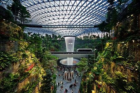 HSBC Rain Vortex in the Jewel entertainment and retail complex, Changi Airport, Singapore