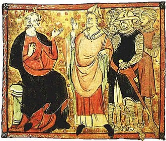 Constitutions of Clarendon - 12th-century depiction of Becket with King Henry II