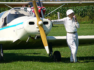 Pilot licensing in Canada - A Canadian private pilot with his Jodel D11-2.