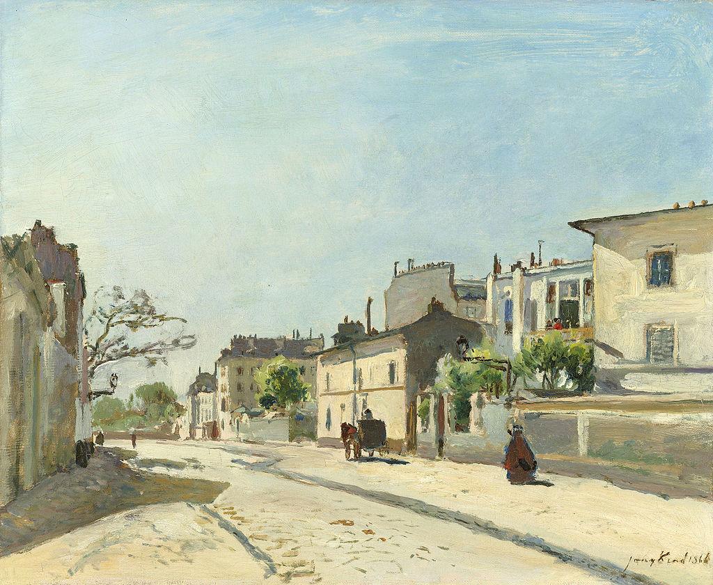 Rue Notre-Dame, Paris, huile sur toile de Johan Barthold Jongkind (1866, Rijksmuseum Amsterdam).  (définition réelle 4202×3449)