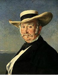 John Sutter, portrait par Franck Buchser, 1866