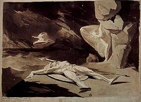 61bd8250ed77 Johann Heinrich Füssli, Thétis pleure la mort d Achille, 1780, Art  Institute of Chicago.