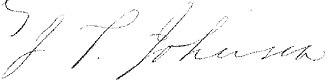 John Telemachus Johnson - Image: John Telemachus Johnson sig