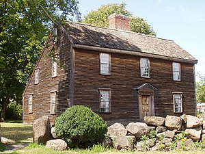John Adams Birthplace - Birthplace of President John Adams, Quincy, Massachusetts.