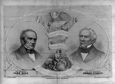 John Bell és Edward Everett, az Alkotmányos Unió Pártja