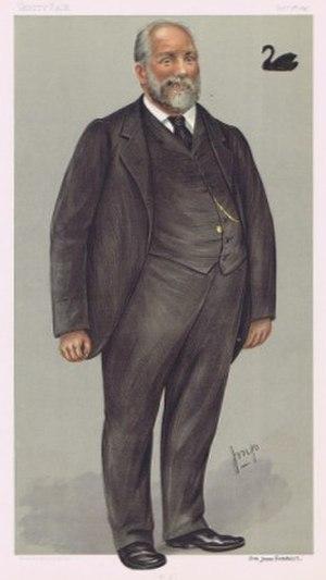 John Forrest - Forrest caricatured by Julius Mendes Price for Vanity Fair, 1897