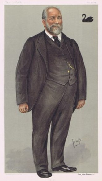 John Forrest - Forrest caricatured by Julius Mendes Price for Vanity Fair, 1897