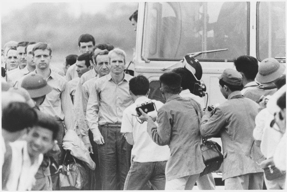John McCain After Being Released as Prisoner of War
