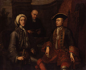 John Verelst - John Montagu, 2nd Duke of Montagu, James O'Hara, 2nd Baron Tyrawley, and an unknown man