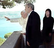 John Paul II George W. Bush July 2001