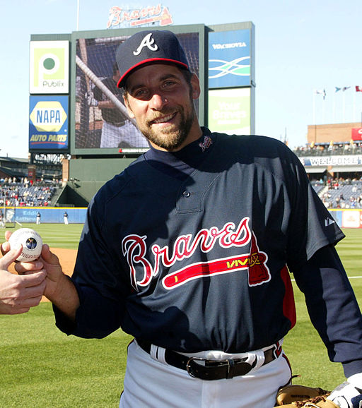 John Smoltz with Colonel Air Force (cropped)