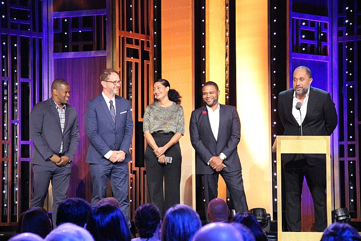 Jonathan Groff, Tracee Ellis Ross, Anthony Anderson and Kenya Barris at the 75th Annual Peabody Awards for black-ish.jpg