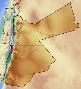 Map showing the location of Wadi Rum
