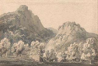 Waterfall of Lodore, Cumberland