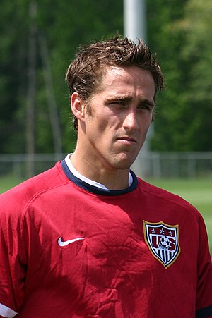 Josh Wolff during USMNT practice session