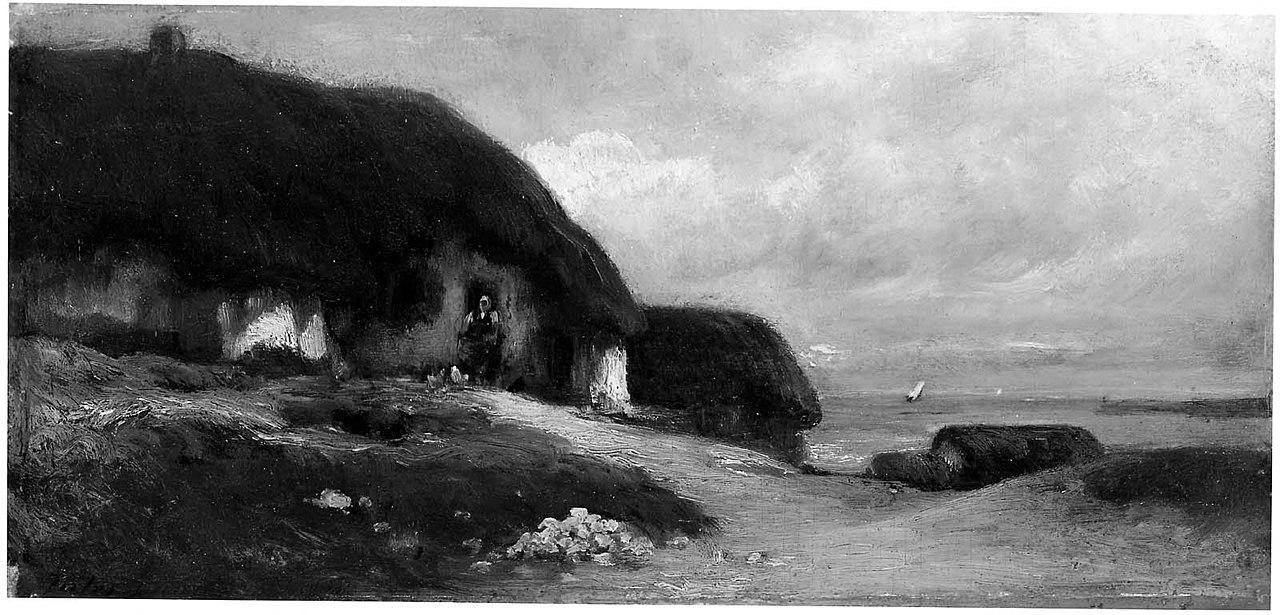 Ca s'est passé en octobre ! 1280px-Jules_Dupr%C3%A9_-_Cottages_by_the_Sea_-_19.116_-_Museum_of_Fine_Arts