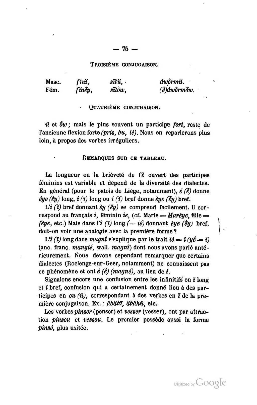 Page Julien Delaite Essai De Grammaire Wallonne Le Verbe Wallon 1892 Partie 1 Et 1895 Partie 2 Djvu 85 Wikisource