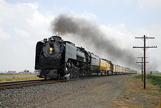 Cheyenne Frontier Days - Union Pacific 844 leads the Cheyenne Frontier Days Special near Platteville, Colorado in 2007.