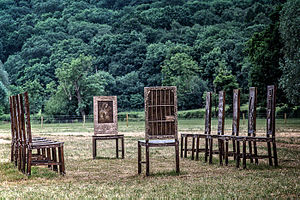 Hew Locke - The Jurors art installation at Runnymede