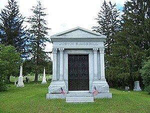 Justin Smith Morrill - Mausoleum of Senator Justin Smith Morrill in Strafford, Vermont.