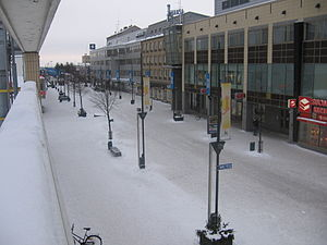 Kouvola - Pedestrian zone Manski in downtown Kouvola
