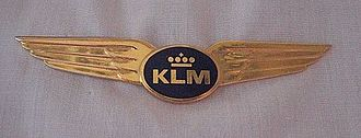 KLM - Current KLM pilot wing