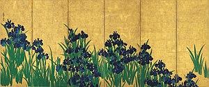 Ogata Kōrin - Image: KORIN Irises L