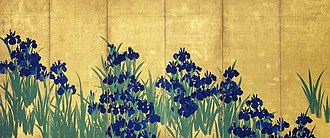 Irises screen - Image: KORIN Irises L