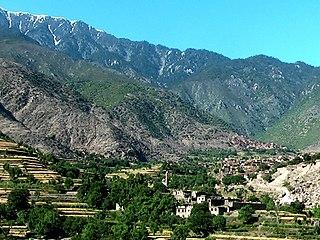 Kamdesh Town in Nuristan Province, Afghanistan