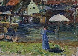 Kallmünz – Gabriele Münter beim Malen I
