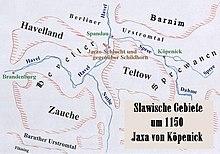 Territori slavi verso il 1150