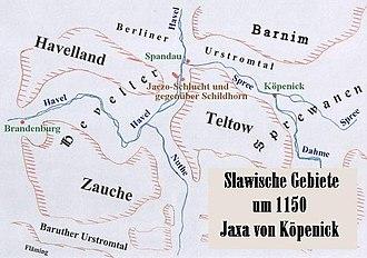 Duchy of Kopanica - Image: Karte Jaxa