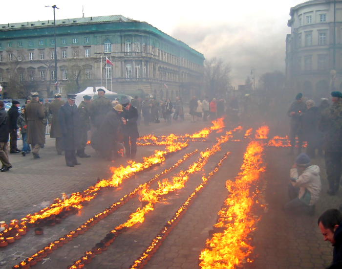 Katyn massacre victims commemorated Warsaw 2007