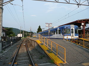 Kawaguchiko Station - View of the platforms, July 2010