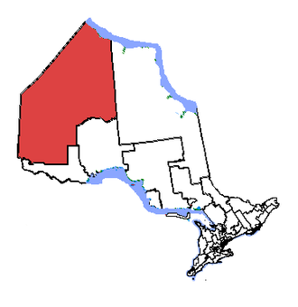 Kenora (electoral district) - Kenora in relation to other Ontario electoral districts
