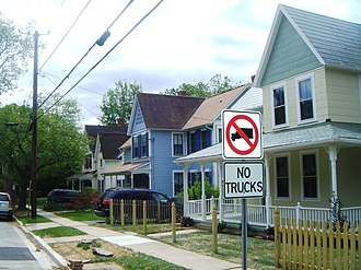 Kensington, Maryland - Kensington's Armory Avenue in April 2010.