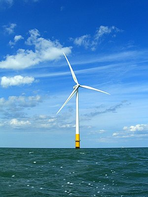 English: Vestas V90-3MW wind turbine of the Ke...