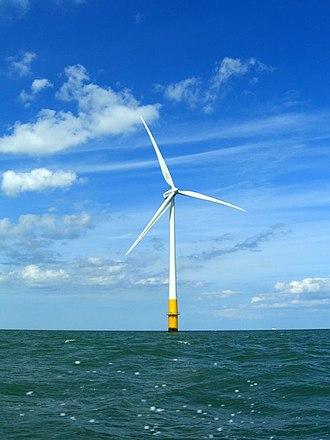 Kentish Flats Offshore Wind Farm - Vestas V90 Wind Turbine Kentish Flats
