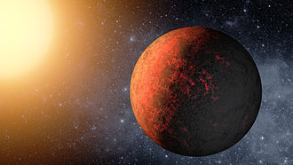 Kepler-20e - An artist's depiction of Kepler-20e
