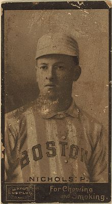 Kid Nichol's 1895 Boston Beaneaters baseball card