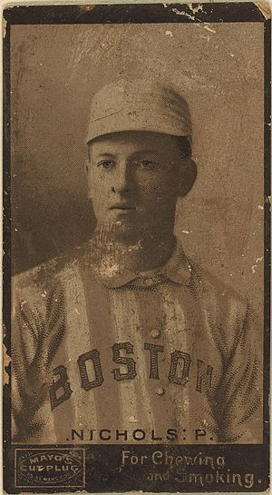 Kid Nichols - Kid Nichol's 1895 Boston Beaneaters baseball card