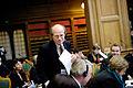 Kimmo Sasi (saml) Finland, nyvald president i Nordiska radet pa vag upp i talarstolen. Nordiksa radets sesion 2011.jpg