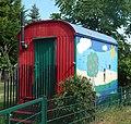 Kindgerecht umgestalteter Bauwagen des Kindergartens St. Laurentius - panoramio.jpg