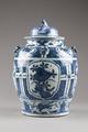 Kinesisk urna med lock gjord av porslin, 1700-tal - Hallwylska museet - 95606.tif