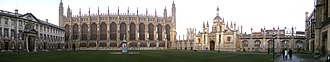 Choir of King's College, Cambridge - Image: Kings College Cambridge Great Court Panorama