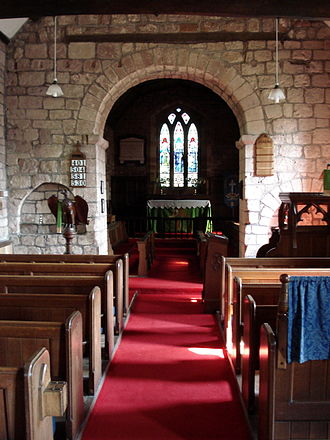 Kirkbride, Cumbria - Angerton church, 1 km north of Kirkbride